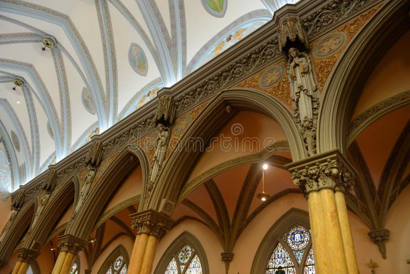 Nossa senhora das vitórias igreja, Boston, EUA imagem de stock royalty free