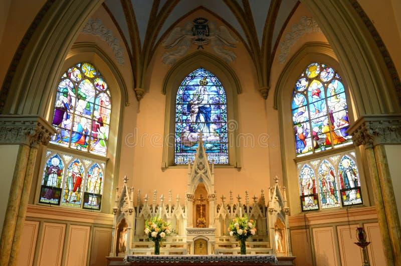 Nossa senhora das vitórias igreja, Boston, EUA foto de stock royalty free