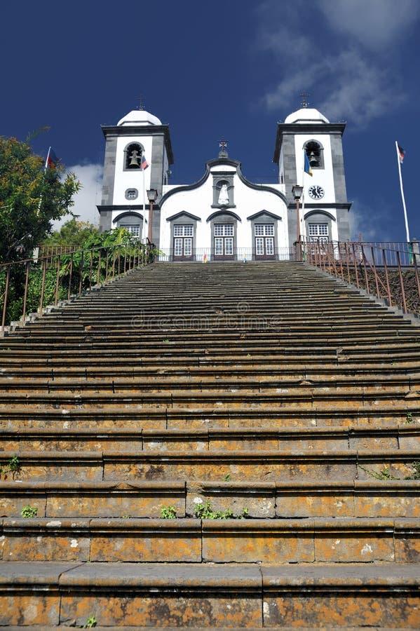 Nossa Senhora DE Monte kerk, Monte, Madera royalty-vrije stock foto