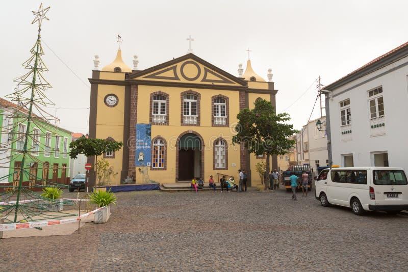 Nossa Senhora do Rosario Church. Ribeira Brava, island Sao Nicolau, Cape Verde. Nossa Senhora do Rosario Church stock photos