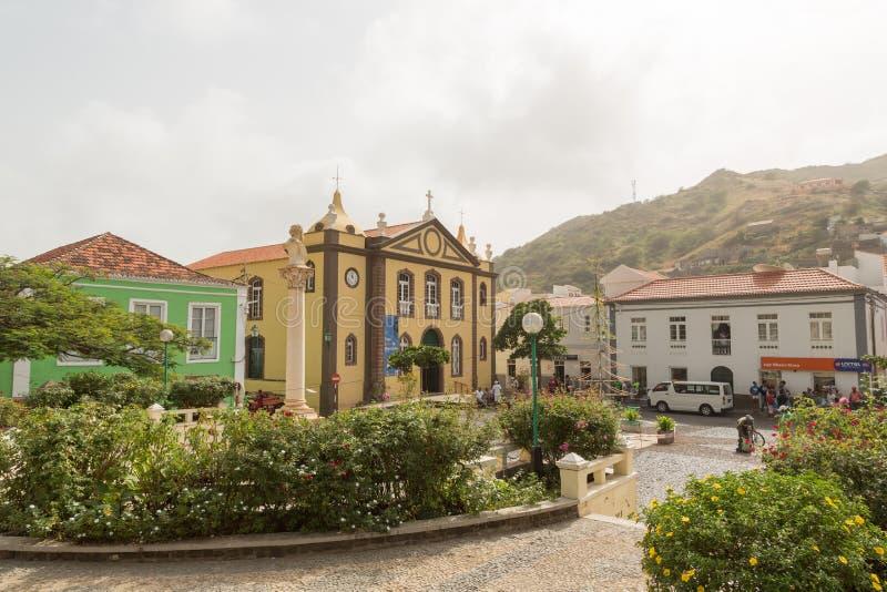 Nossa Senhora do Rosario Church. Ribeira Brava, island Sao Nicolau, Cape Verde. Nossa Senhora do Rosario Church royalty free stock photography