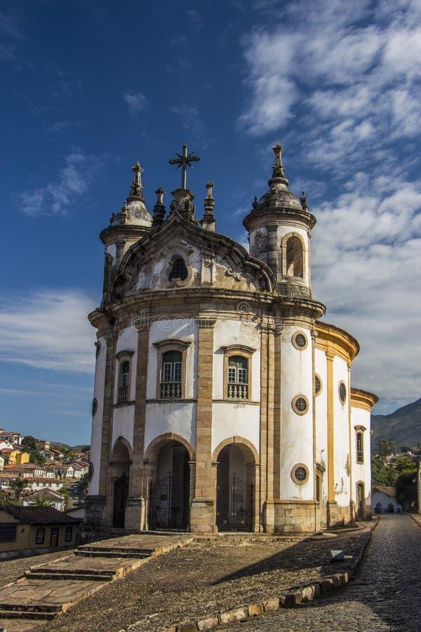 Nossa Senhora gör den Rosà ¡ rio kyrkan - Ouro Preto - Minas Gerais - Brasilien fotografering för bildbyråer