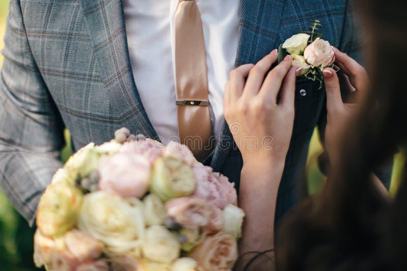 Nosso casamento bonito fotografia de stock royalty free