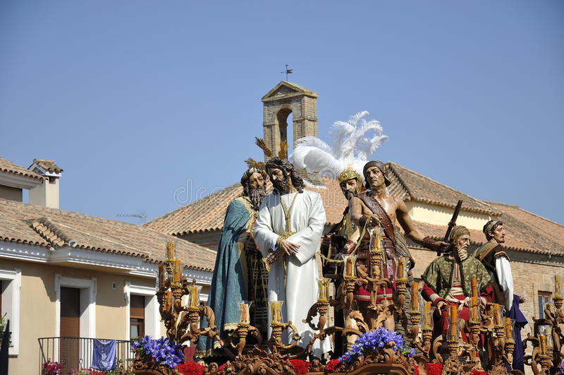 Nosso pai Jesus do silêncio no desprezo de Herod. fotografia de stock
