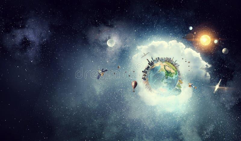 Nosso planeta da terra Meios mistos Meios mistos fotos de stock royalty free