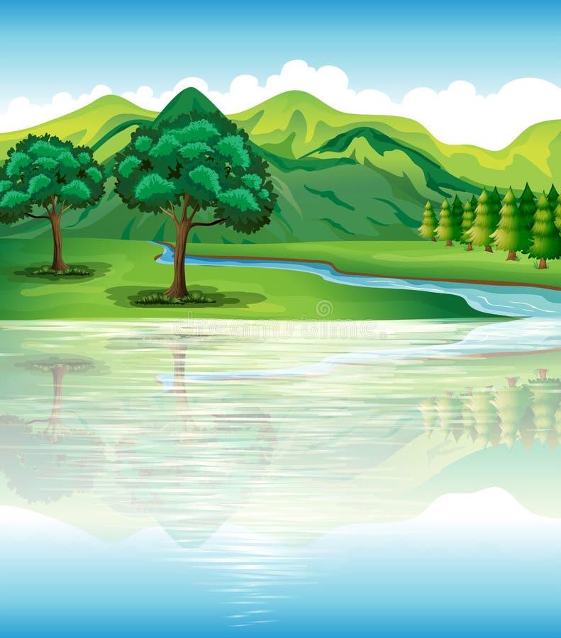 Nossos terra e recursos hídricos naturais ilustração royalty free