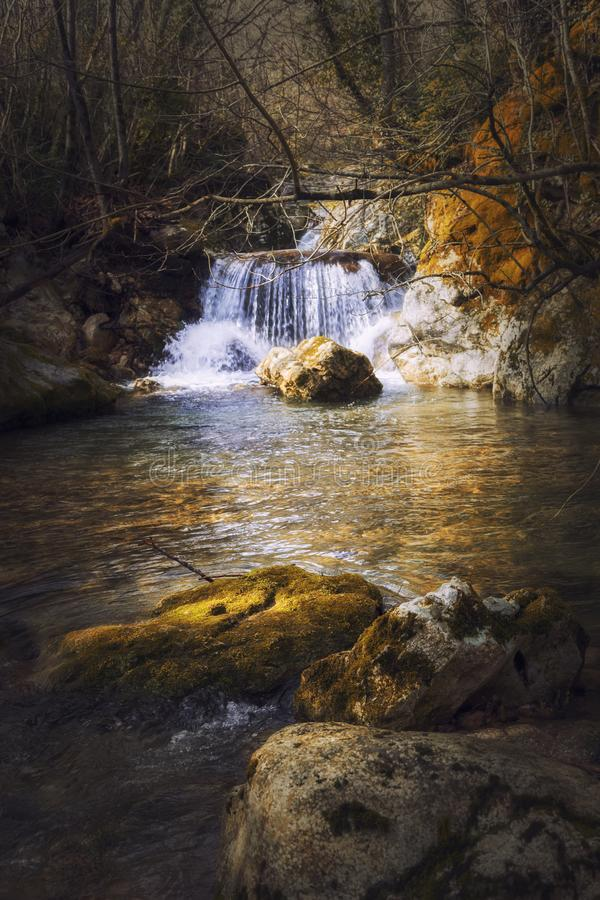 Nostálgico de la cascada fotografía de archivo