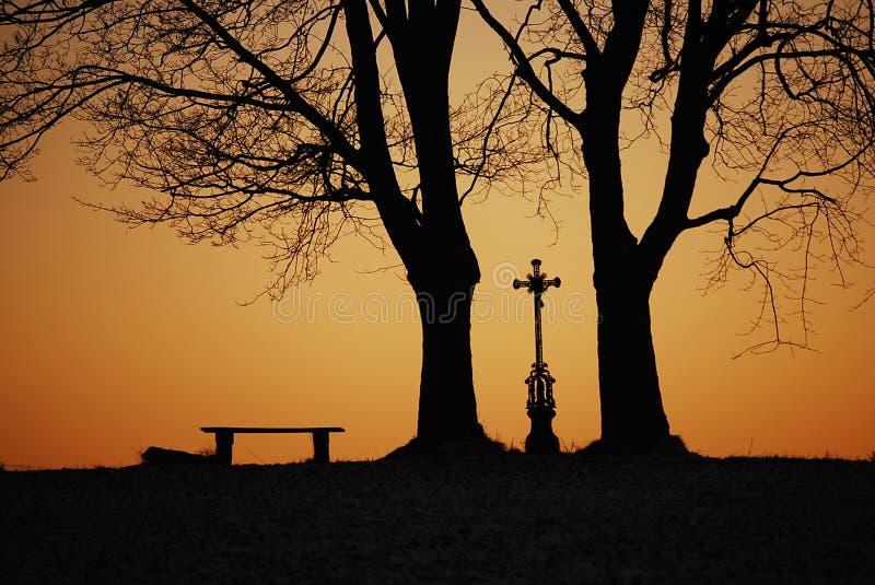 Download Nostalgia stock photo. Image of crucifix, orange, horizon - 9183512