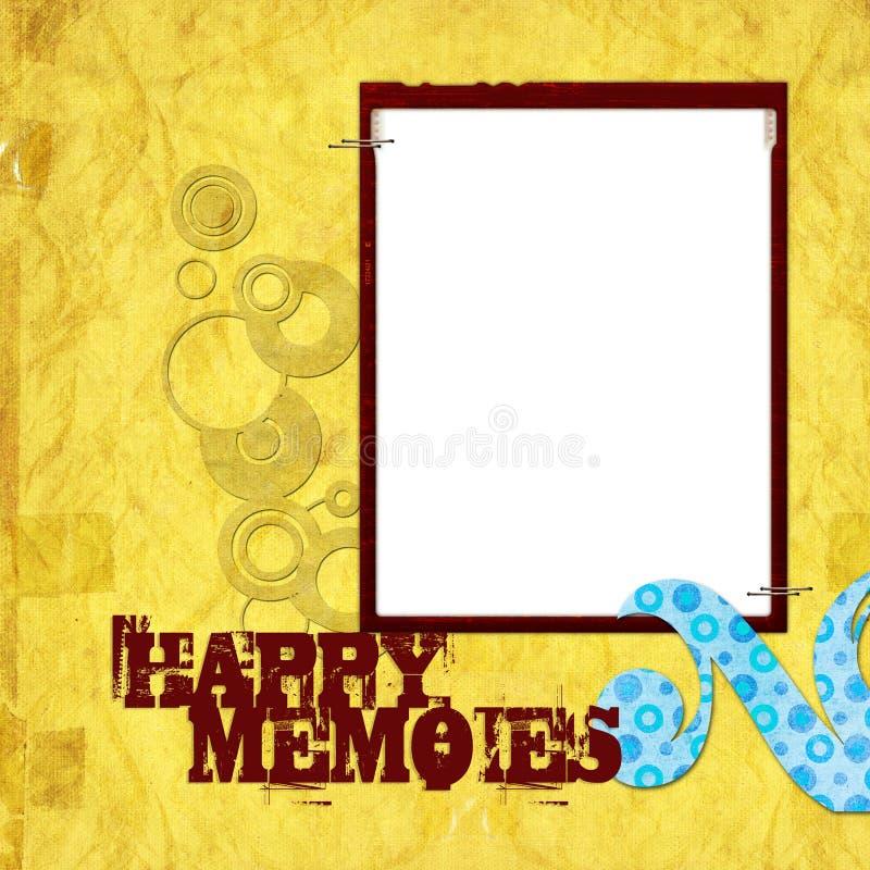 Nostalgia Scrapbook Frame Background Stock Photo