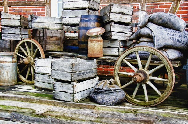 Nostalgia - vagone dell'azienda agricola - HDR immagine stock