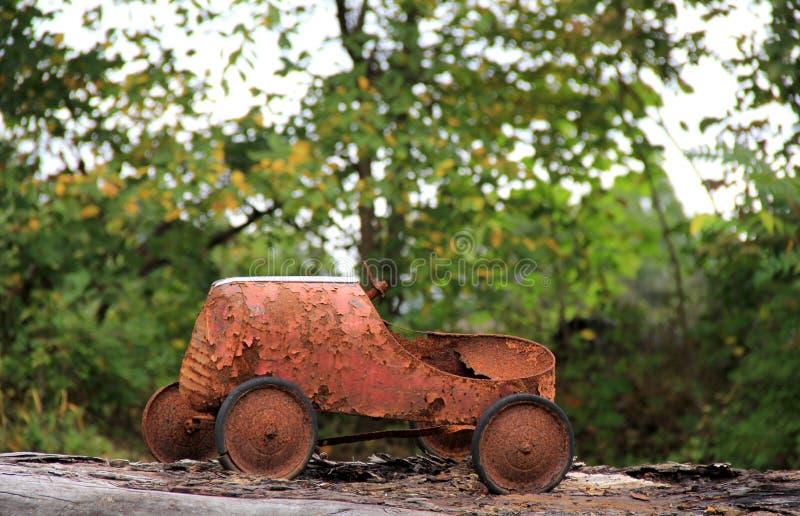 Nostalgic image of rusty old child's toy royalty free stock photos