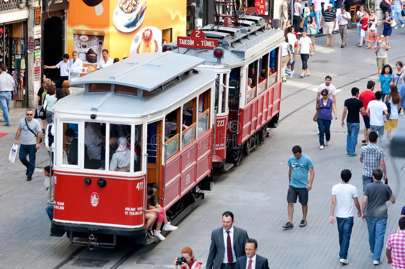 Download Nostalgic Trams Of Beyoglu, Istanbul Editorial Stock Photo - Image: 19459698