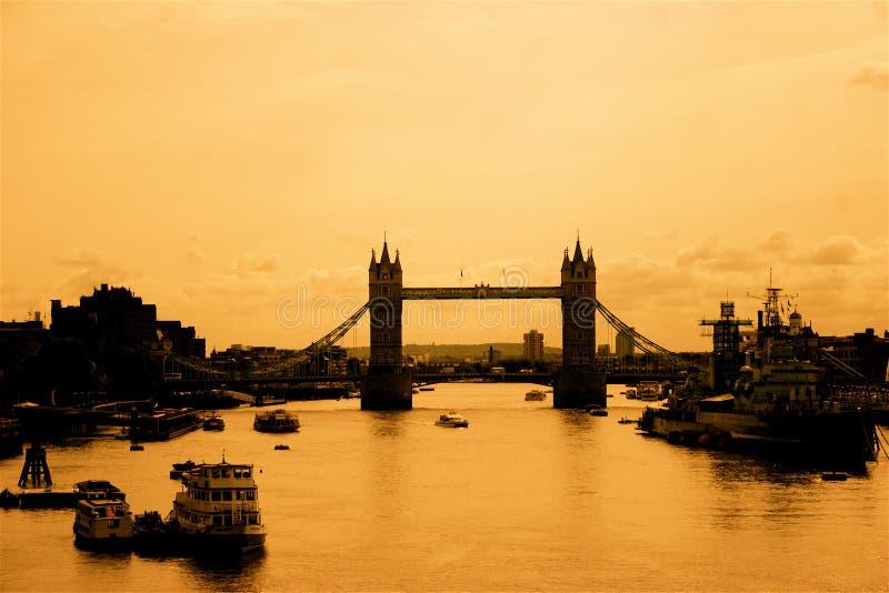 Nostalgic View of London royalty free stock image