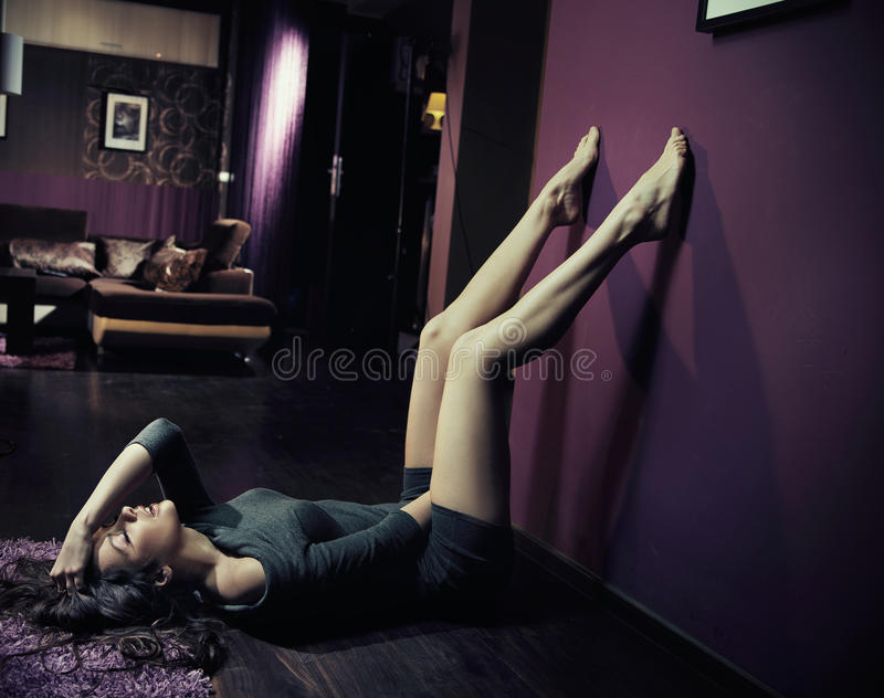 nostalgiczna kobieta fotografia stock