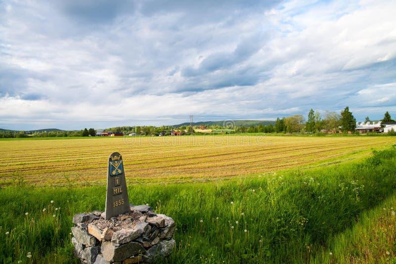 Nostalgisch weinig dorp in Zweden royalty-vrije stock foto