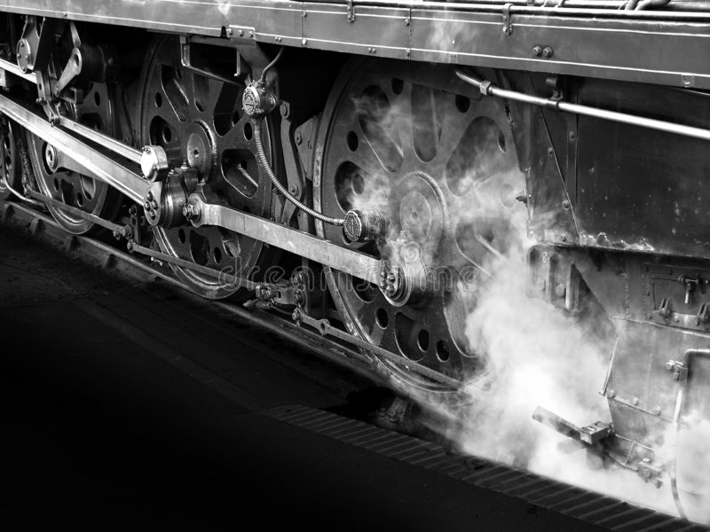 Nostalgische Dampf Locoräder lizenzfreie stockfotografie