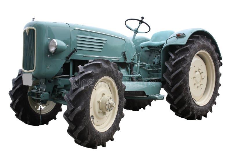 Nostalgische tractor in witte rug royalty-vrije stock fotografie