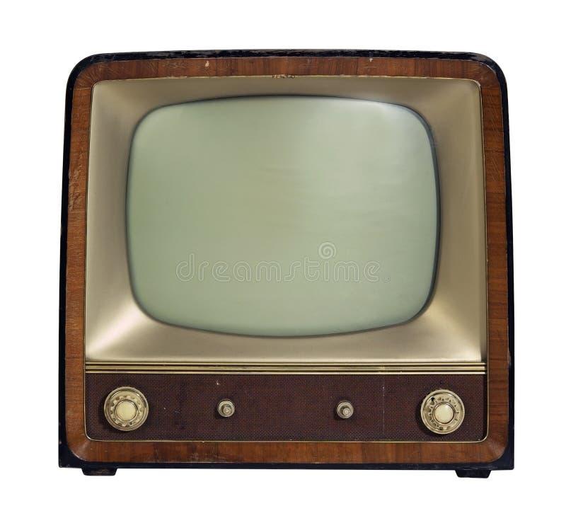 Nostalgisk gammal TVuppsättning royaltyfria foton