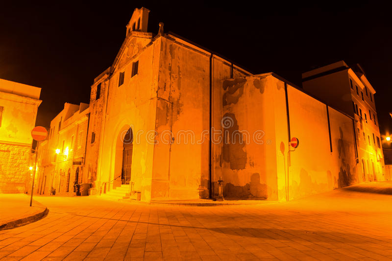 Nostra signora Del Carmelo kościół w Alghero zdjęcie stock