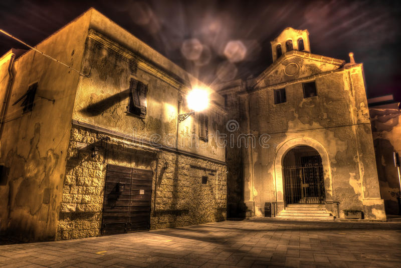 Nostra signora Del Carmelo kościół w Alghero obrazy royalty free