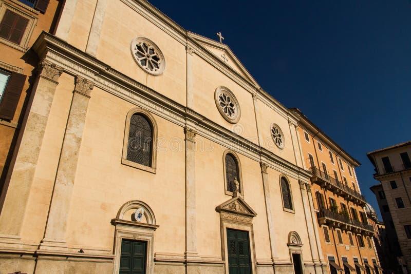 Nostra Signora Del Sacro Cuore piazza Navone, Rzym, Włochy zdjęcia royalty free