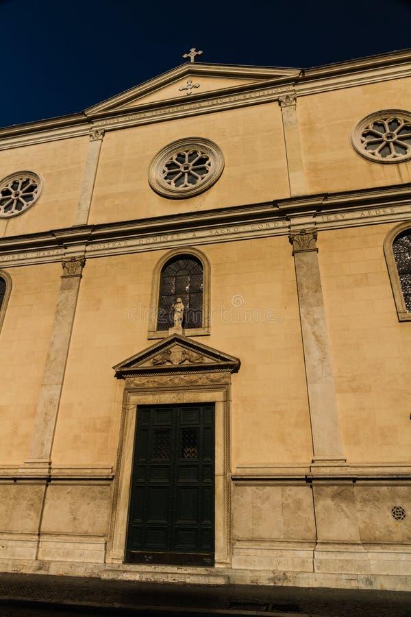 Nostra Signora Del Sacro Cuore piazza Navone, Rzym, Włochy zdjęcie stock