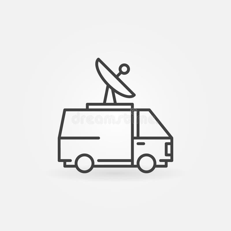 Notícia camionete ícone ilustração royalty free