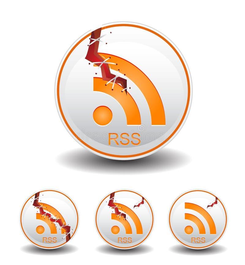 Notícia da alimentação de Rss ilustração stock