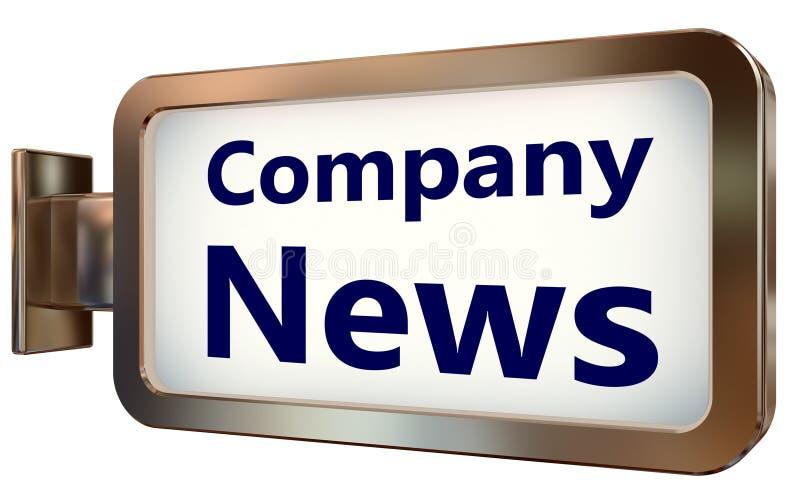 Notícia da empresa no fundo do quadro de avisos ilustração do vetor