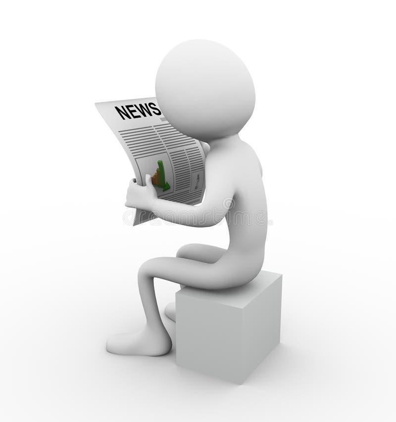 Notícia da leitura ilustração royalty free