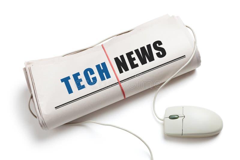 Notícia da tecnologia fotografia de stock