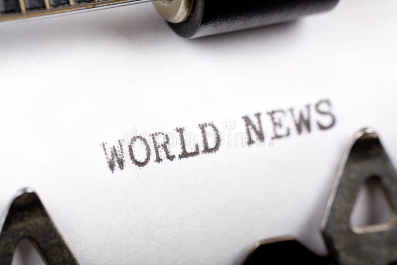 Notícia de mundo imagem de stock