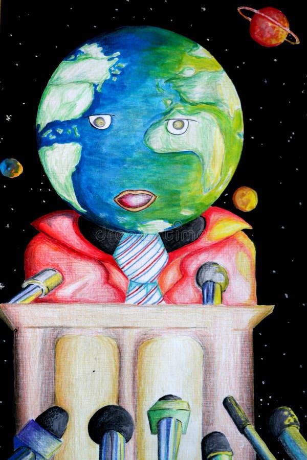 Notícia de mundo ilustração do vetor