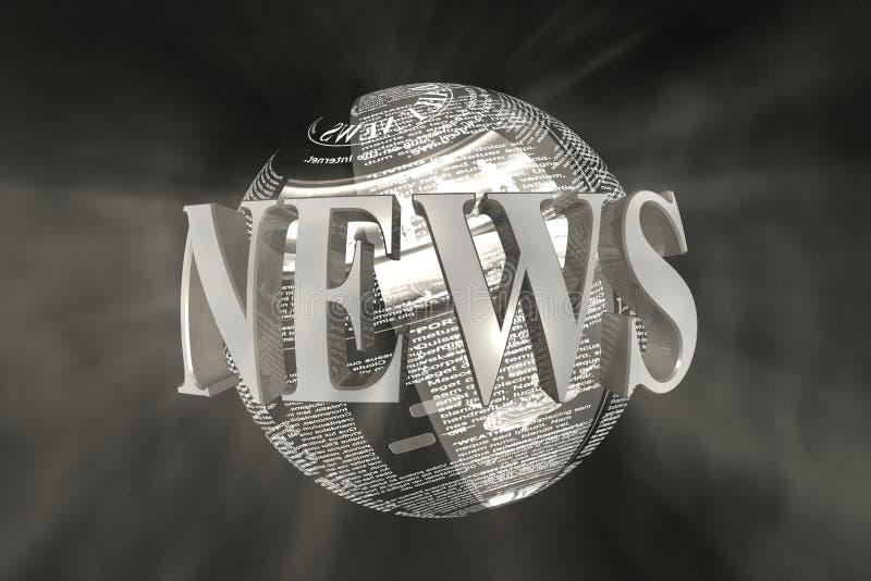Notícia de mundo ilustração stock