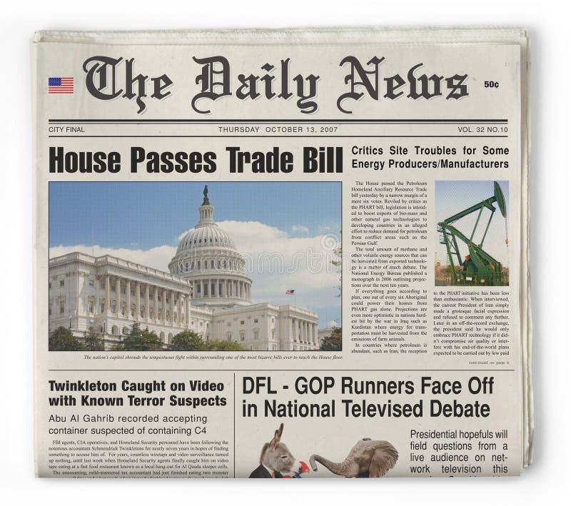 A notícia diária fotografia de stock