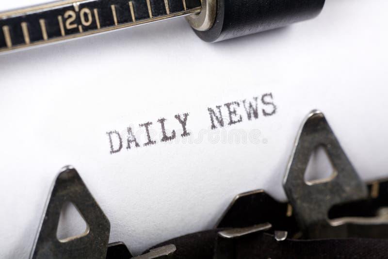 Notícia diária foto de stock