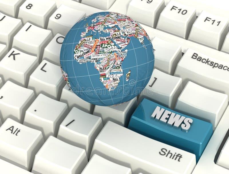 Notícia do Internet ilustração royalty free