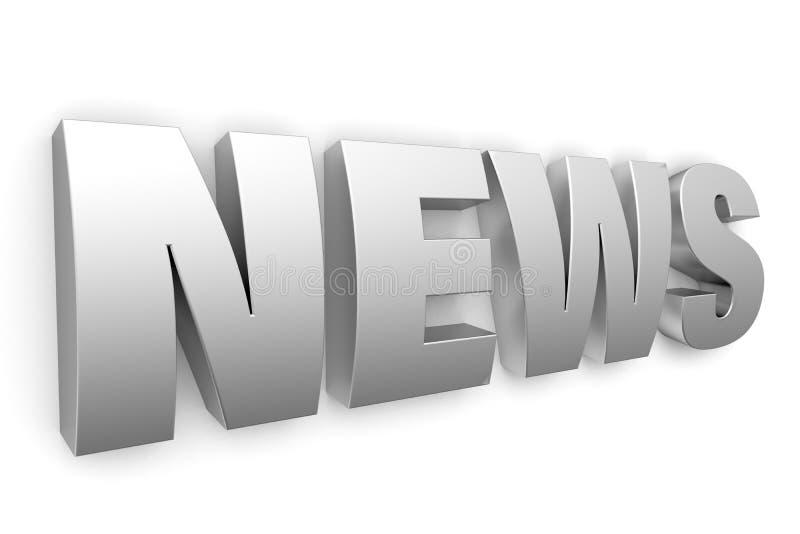 notícia do logotipo do metal 3d ilustração do vetor
