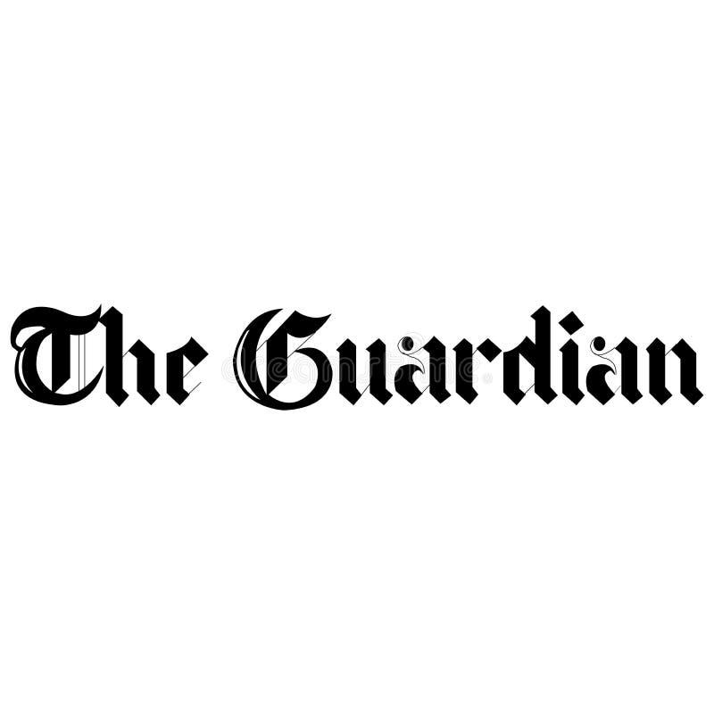 A notícia do logotipo do guardião ilustração royalty free