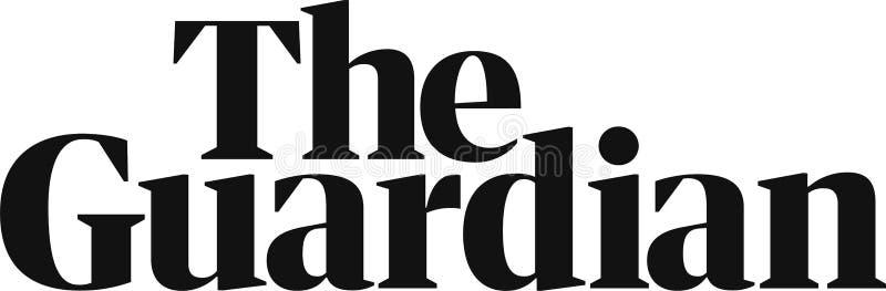 A notícia do logotipo do guardião ilustração do vetor