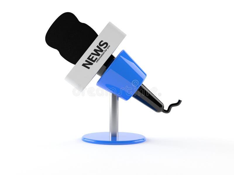 Notícia do microfone ilustração do vetor