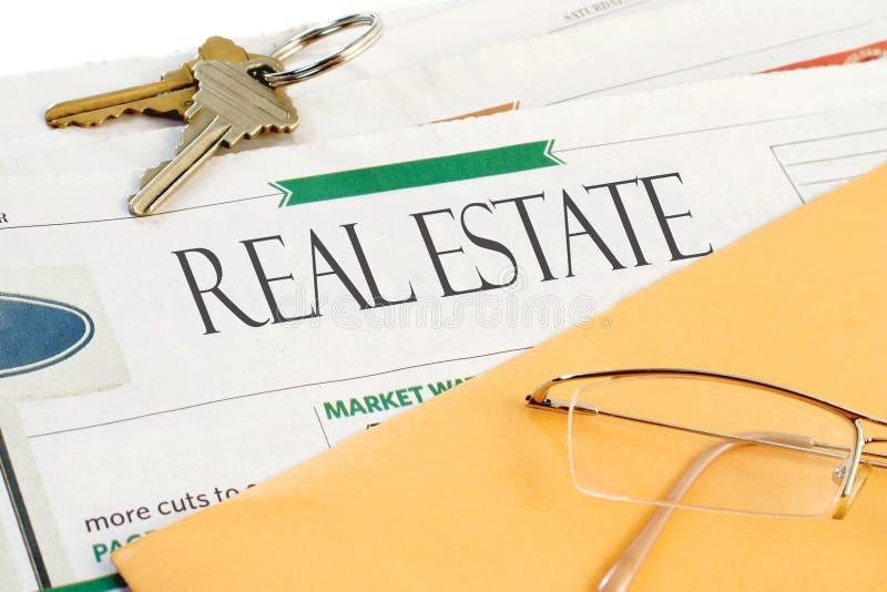 Notícia dos bens imobiliários imagem de stock royalty free