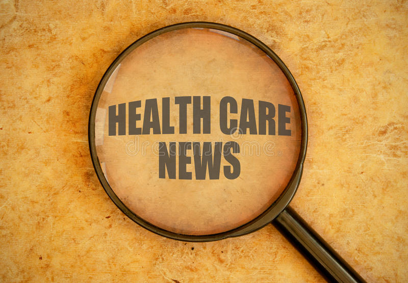 Notícia dos cuidados médicos fotos de stock royalty free