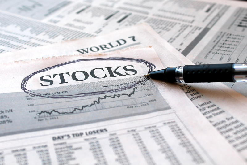 Notícia dos estoques fotos de stock royalty free