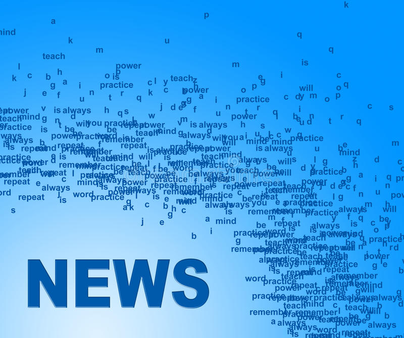 A notícia exprime meios Media Player e informação ilustração stock