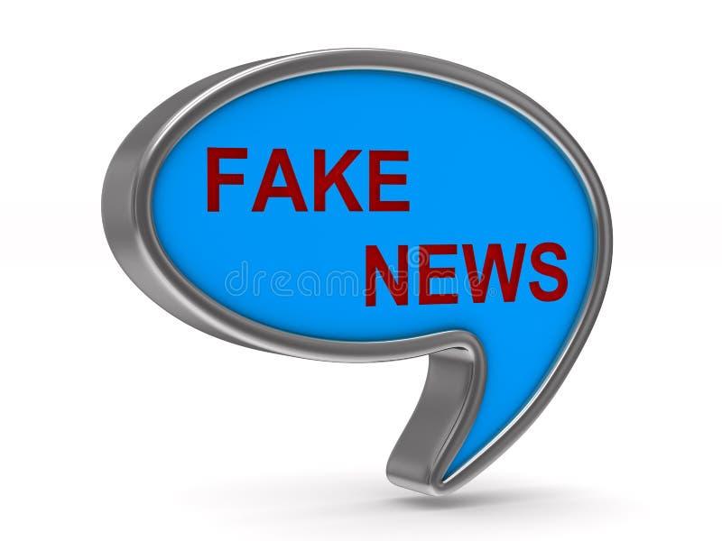 Notícia falsificada Balão da conversa no fundo branco Illustr 3d isolado ilustração do vetor