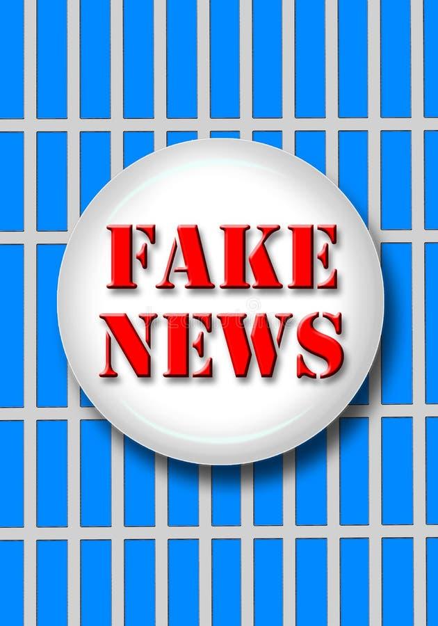 A notícia falsificada com barras ilustração do vetor