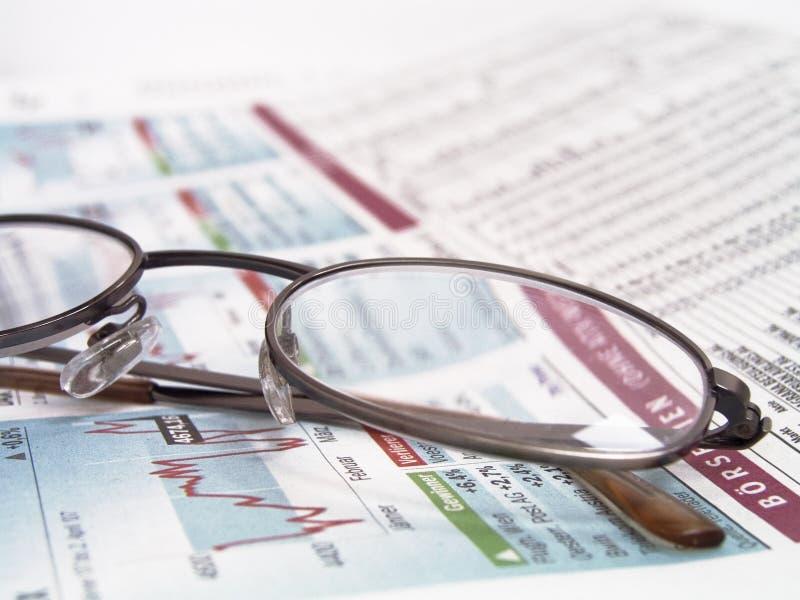 Notícia financeira imagem de stock royalty free