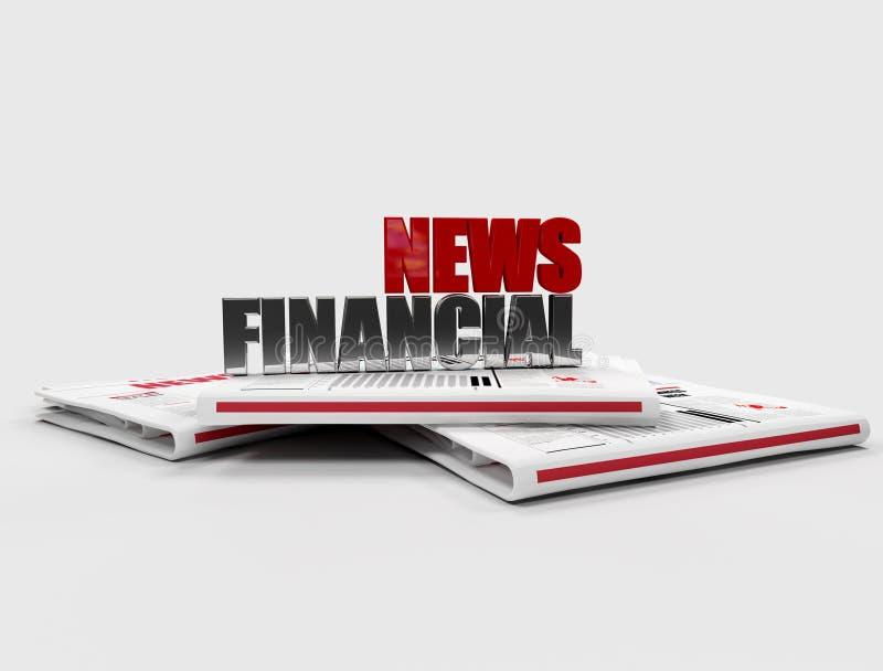 Notícia financeira ilustração royalty free