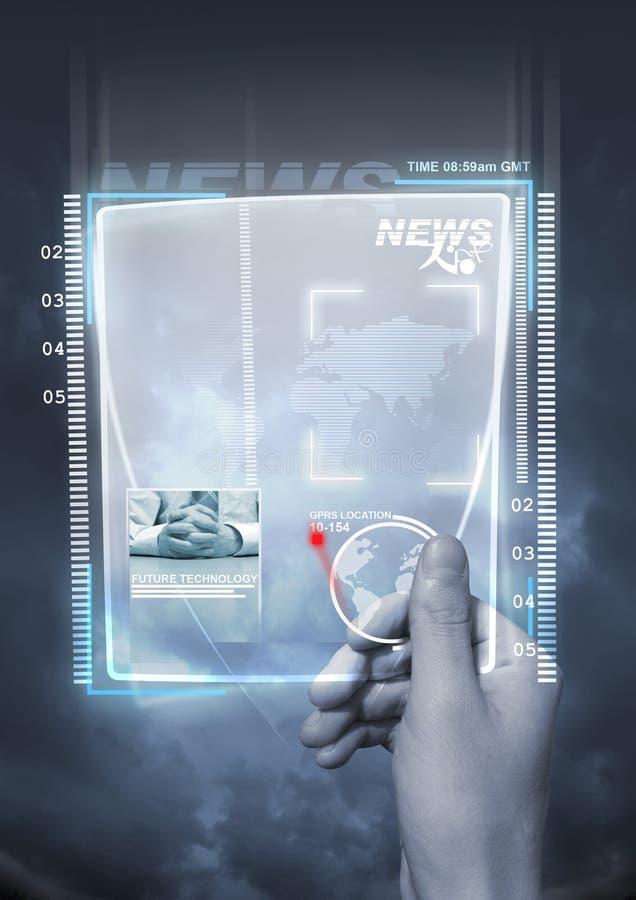 Notícia futura da tecnologia imagem de stock